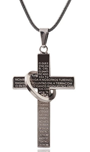 SaySure - Cross Stainless Steel necklace for men's Rope Chain