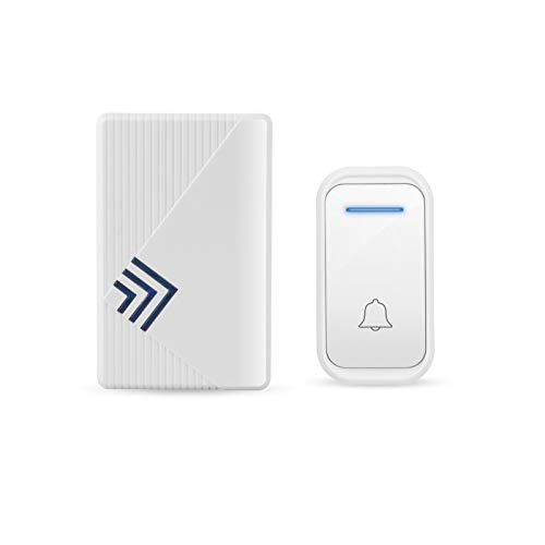 YCSX Timbre Inalámbrico Exterior Simple Plug-in White Wireless Doorbell Home Remoto Control Doorbell Smart Doorbell 38 Melody 3 Niveles Volumen Ajustable Timbre Inalámbrico Impermeable