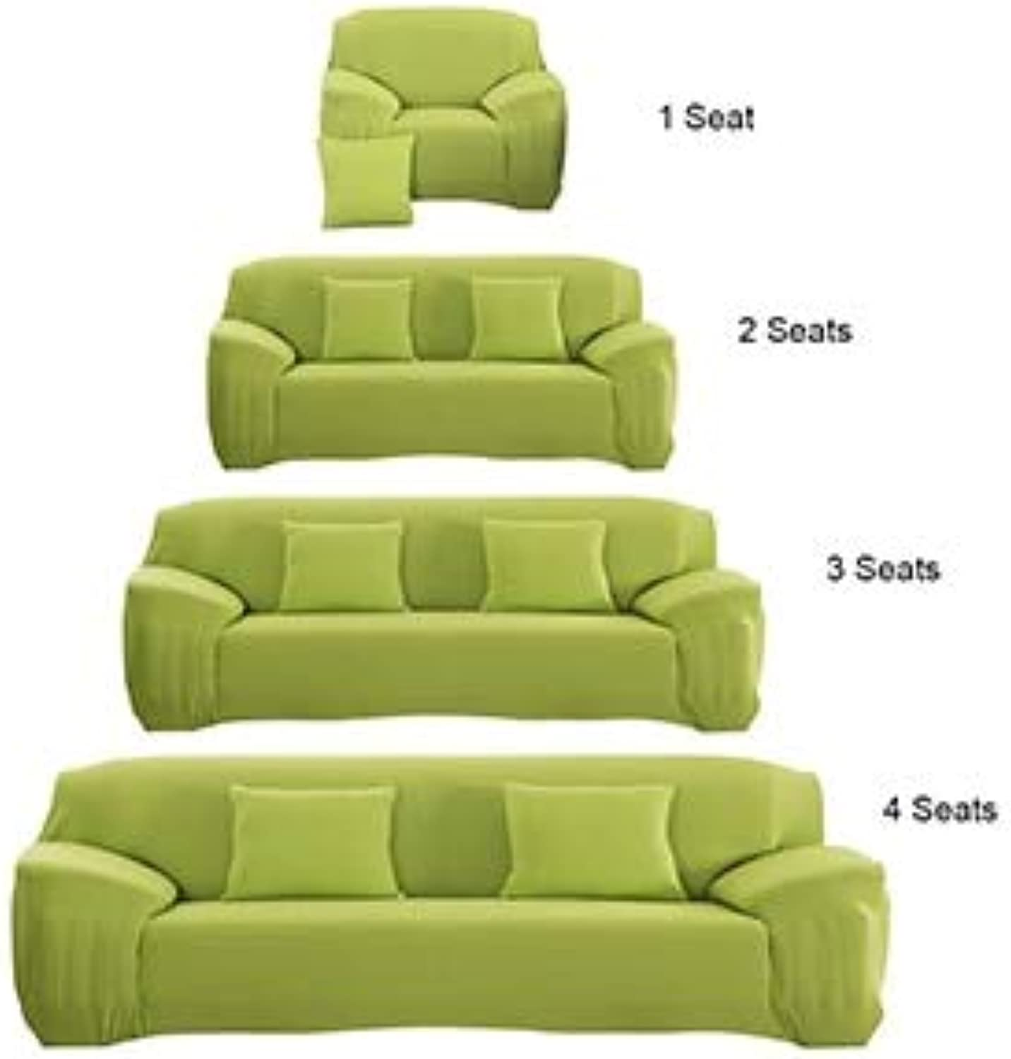 Sofa Cover Flexible Stretch Big Elasticity Couch Cover Sofa Funiture Cover for Single Two Three Four Seats Soft Flannel Slipcove   Green, 2 Seats
