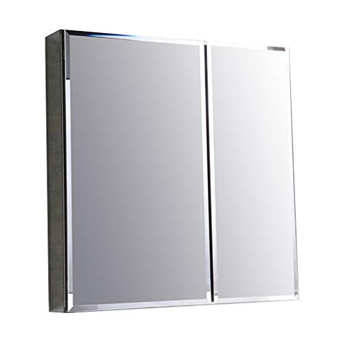 Badkamer kast/muur gemonteerde opbergkast badkamer spiegel kast met spiegel en opslag plank, medicijnkastje, aluminium.