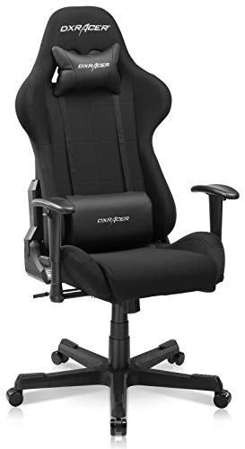 DXRacer Gaming Chair Ergonomic Office Affordable PC Console Racing Seat for Gamers - Formula Series FD01 | Strong Mesh, SGS Certified Gas Lift, Medium, Black