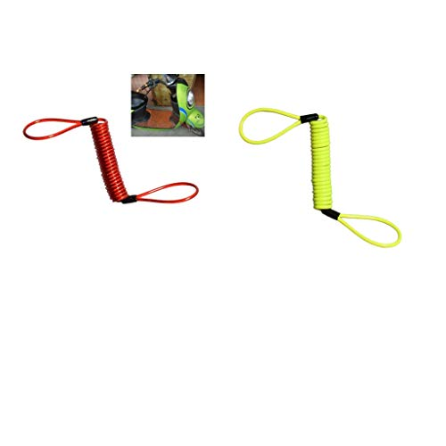 150Cm Alarm Disc Lock Security Spring Reminder Cable Motorcycle Ebike 2Pcs