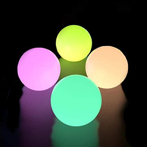 フローティングプールライト ボールライト ベッドサイドランプ ナイトライト16色変換 室内照明 置物ライト ガーデンライト 2つのリモコン付き 4パック 屋外 RGB 調光変色機能付き IP67防水 ムードランプ ボタン電池式 浴槽風呂のおもちゃ 屋外プー