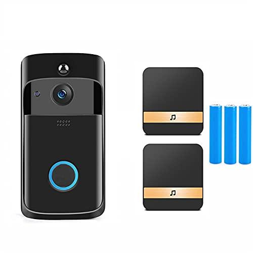 Timbre Inteligente Cámara WiFi Intercomunicador De Llamada Inalámbrica Video-Eye para Apartamentos Timbre De Puerta para Teléfono Cámaras De Seguridad para El Hogar (Color : 8)