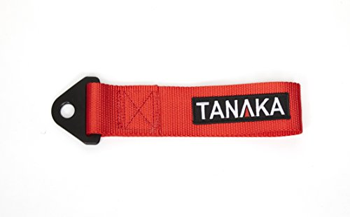 Tanaka Power Sport High Strength Racing Tow Strap, Red