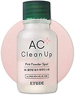 ETUDE HOUSE AC Clean Up Pink Powder Spot (Renewal) 0.51 fl. oz. 15 ml | Salicylic Acid Acne Spot | Pore Block and Blackhea...