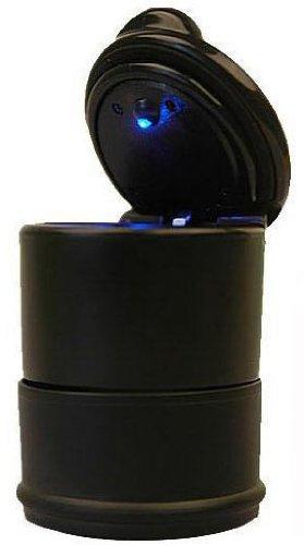 Demarkt KFZ Auto Aschenbecher für Getränkehalter universal PKW Lampe