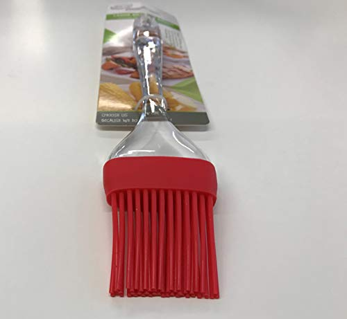 """All For You Silicone Basting Brush 9"""" Kitchen Tool Cooking Utensil Baking Pastry Sauce (Red)"""