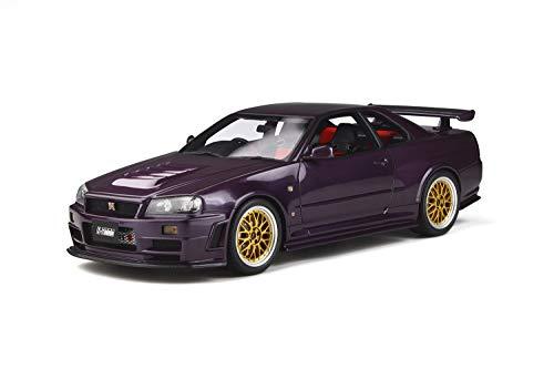 Ottomobile Nissan Skyline GT-R Nismo Z-Tune R34 1998 Midnight Purple goldene Felgen Modellauto 1:18