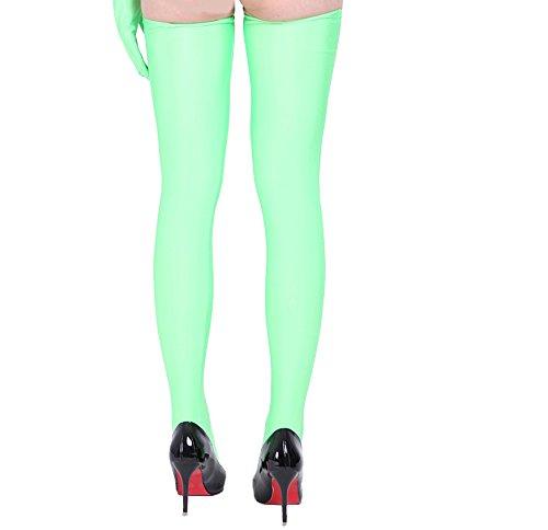 ツルツルニット ロングタイツ レディースサイズ, 薄緑