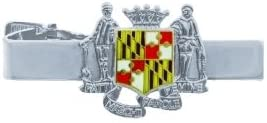 MARYLAND TIE BAR - ENAMELED & PLATED, Nickel Plating, 18mm - MA ENAMELED & PLATED - Uniform Security Police Sheriff - Exclusively Sold by UNIFORM WORLD