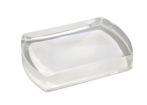 WENKO 20005100 Seifenablage Lido White, Kunststoff - Polyresin, 12.5 x 2.2 x 8.5 cm, Weiß