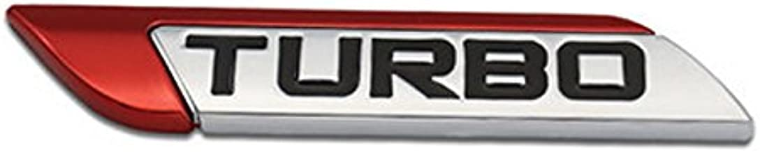 DSYCAR 3D Metal TURBO Car Emblem for Auto Turbo Boost Drive Display, Never Fade & Water Proof & 3M Self Adhesive - Red -