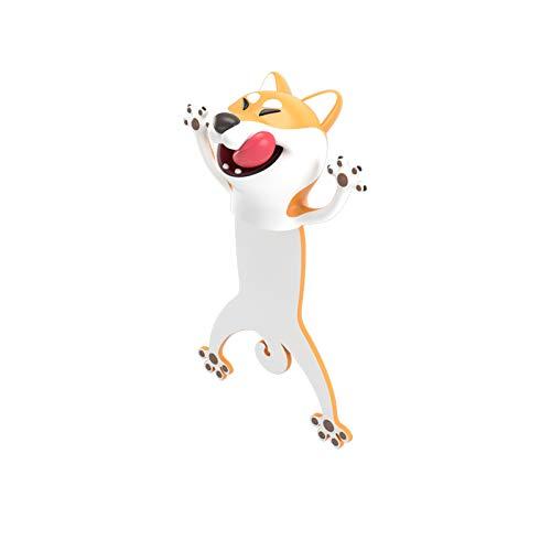 Segnalibri animali , Cartone animato stereo 3D Segnalibri animali adorabili per studenti Bambini Ottimo regalo , Scuola di cancelleria (cane)