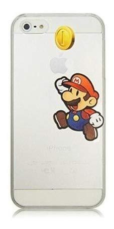 ALL4TOUCH Cover iPhone 6 6S Plus S Principesse Favole (iPhone 6 Plus, Super Mario Moneta)
