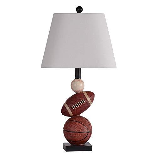 Lámpara Escritorio Lámpara de mesa for niños Lámpara de mesa, dormitorio de niño Lámpara de noche, lámpara de mesa de estilo deportivo creativo, lámpara de mesa de baloncesto, lámpara de mesa de fútbo