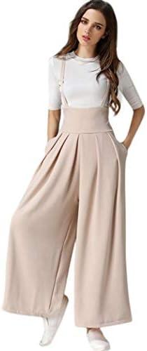 Peto Mujer Elegante Lino Monos Ancha Vintage Pantalones Pierna Verano Casual Anchas Fashion Festivo Colores S/ólidos Pantalones Anchos Overall