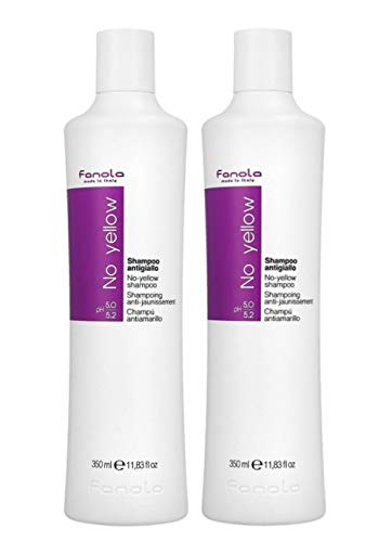 Fanola 2 er Pack Fanola No Yellow Shampoo 350ml