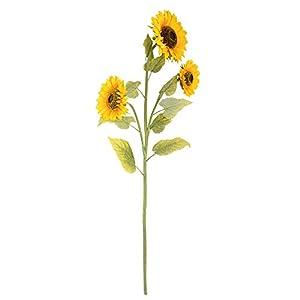 Vickerman Sunflower Bush Artificial-Flowers, 53″, Yellow