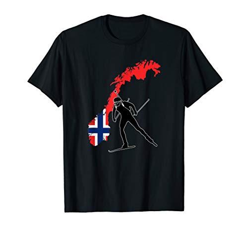 Norwegen Norway Biathlon Shirt für Fans an der Loipe