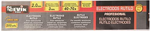 Cevik TECA2002.0RU - Caja 200 uds electrodos rutilo 2 mm