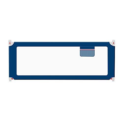 Barrière de lit HUO Portable for Bébé Enfant Safety 1st Portable Protection Contre Les Chutes Barrière De Sécurité Lavable (Color : Sapphire Blue, Size : 150cm)