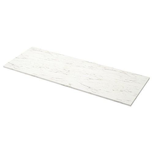 EKBACKEN niestandardowy blat roboczy 63,6-125 x 2,8 cm biały efekt marmuru / laminat