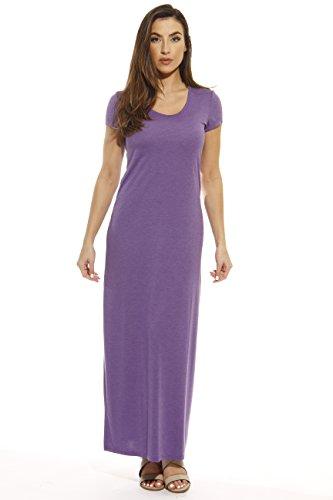 401502-PRP-M Just Love Summer Dresses / Maxi Dress,Heathered Purple,Medium