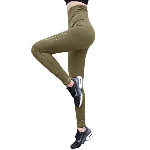 Fitness-Hosen für Damen Yoga-Hose Leggings Sport Frauen Fitness Yoga Hosen Hohe Taille Yoga Leggings Sportswear Work Out Nahtlose Leggins Joggen Femme Gym Kleidung-M