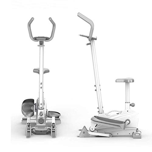 Bicicleta estática 2-en1 Bicicleta elíptica Bicicleta de ejercicio-Fitness Cardio Máquina de entrenamiento para perder peso para el hogar Para el hogar Cardio Fitness Workout Gym (Color: Blanco, Tam