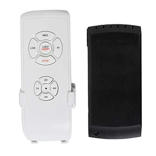 Soulitem - Kit de herramientas para ventilador de techo (inalámbrico, universal, mando a distancia, con lámpara, control con temporizador)