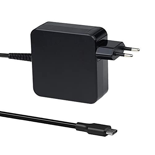 Cargador Adaptador USB C Tipo C de 65 W para MacBook Pro/Air, Lenovo Thinkpad, HP Chromebook, ASUS, Acer, DELL XPS, Huawei Matebook, Xiaomi Air, Cable de alimentación Samsung Chromebook Plus Pro