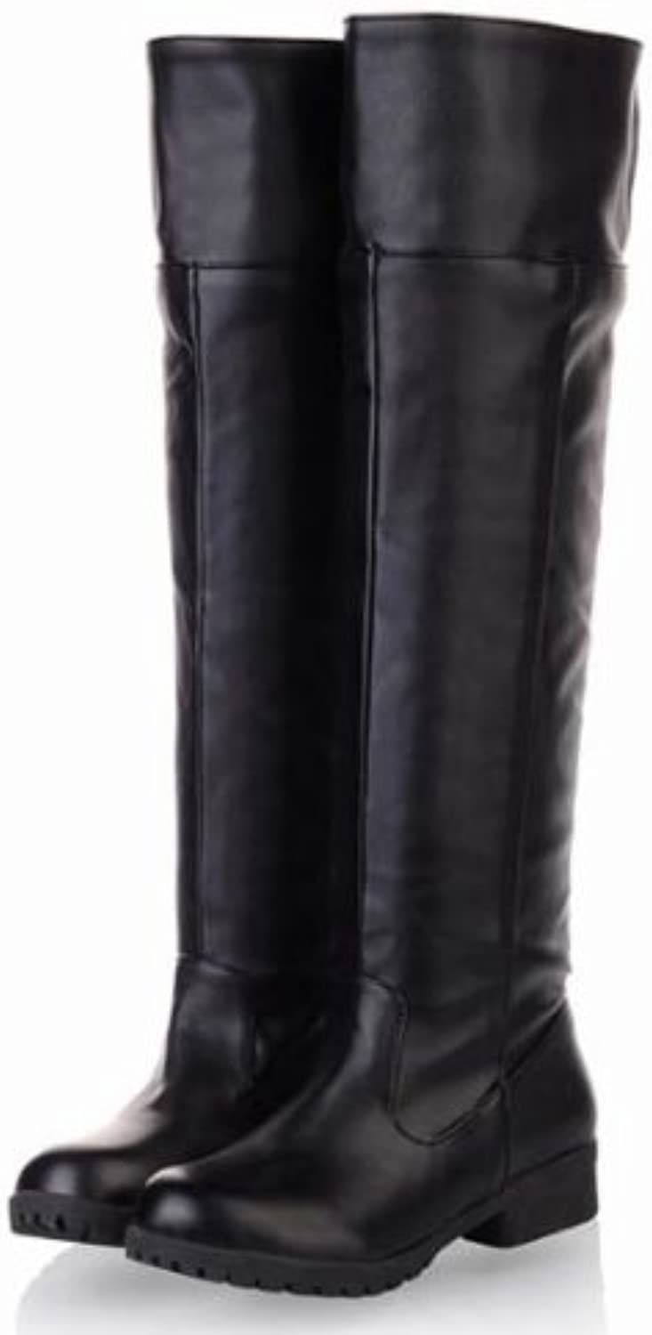 [10 size existence all 2 colors - Cosplay Attack on Titan Scouting Legion long boots shoes of my [black   black] [25cm   40   bk] (japan import)