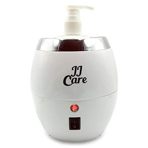 JJ CARE Massage Oil Bottle Warmer, Lotion Warmer 300ml, Oil Warmer for Massage, Heated Oil, Lotion and Cream Dispenser for Salon, Barber Shops, Electric Oil Warmer, Spa Lotion Warmer - White