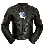 4LIMIT Sports Motorradjacke Leder Streetbandit Biker Rocker, Schwarz, Größe M