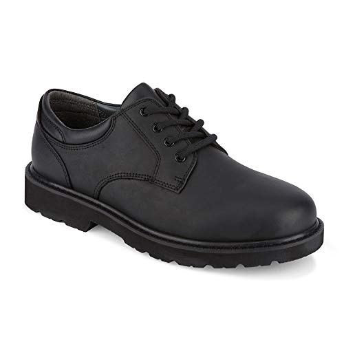 Dockers Mens Shelter Leather Rugged Casual Oxford Shoe - Wide Widths Available, Black, 13 W