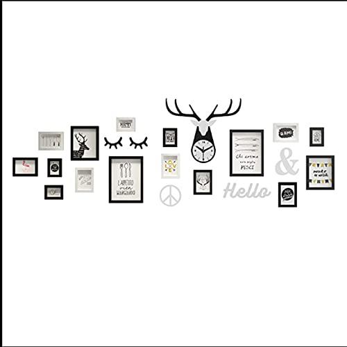 N\C Marco de Collage, Collage para Colgar en la Pared, Adhesivo de Pared Familiar, Marco de Imagen, decoración artística para habitación Familiar, Negro LKWK