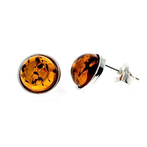 SilverAmber Jewellery UK Mujer plata de ley redonda Amber