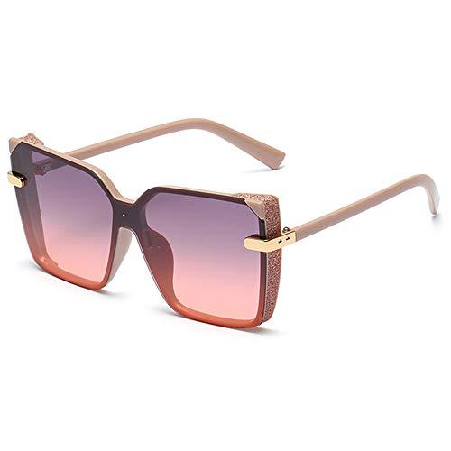 WOXING Tendencia Gafas,Conducir Aire Libre Deportes Viajes Pesca Gafas,Mujere Mujer Gafas De Sol, Ligeras Polarizadas Gafas-Rosa 14.3x5.6cm(6x2inch)