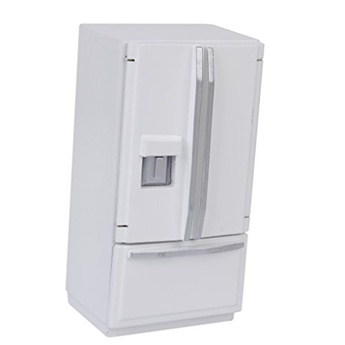Frigo Réfrigérateur en Bois Mobilier Miniature pour 1:12 Maison de Poupée