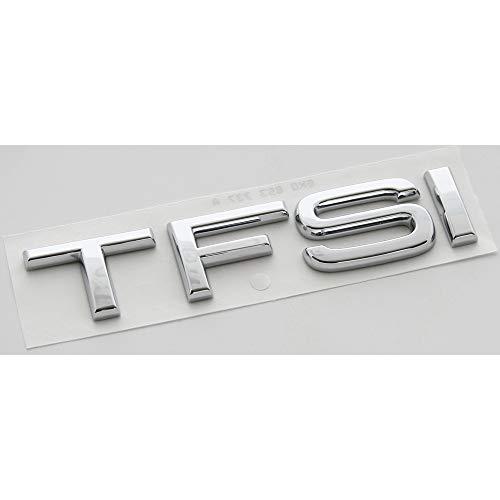 Audi 8X0853737A2ZZ Schriftzug TFSI Aufkleber Sticker Emblem Logo Zeichen chrom (92x20 mm)