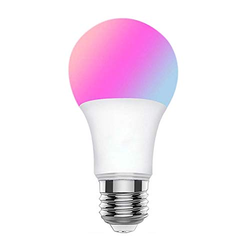 Bluetooth Smart LED Bulb Light RGBW Warm White 4.5W E26 45W Equivalent Dimmable Multicolored No Hub Needed Smartphone Controlled iPhone, iPad, Android