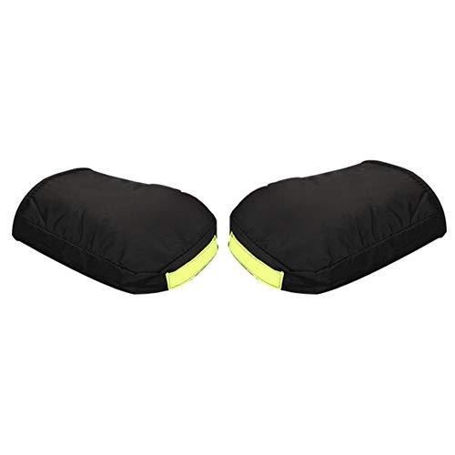 Hete-supply Paire de gants thermiques pour guidon de moto, imperméables, résistants au froid, coupe-vent, épais, extra large