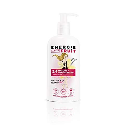 Energie Fruit 2 en 1 Masque + Après Shampooing sans Silicone Cheveux Colores Vanille/Huile de Buriti Bio