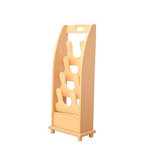 Liyong decoración del hogar multifunción madera maciza zapatos estante puerta de madera creativo moderno simple zapatillas y zapatillas simples hogar múltiples capas de madera, B HLSJ (tamaño: