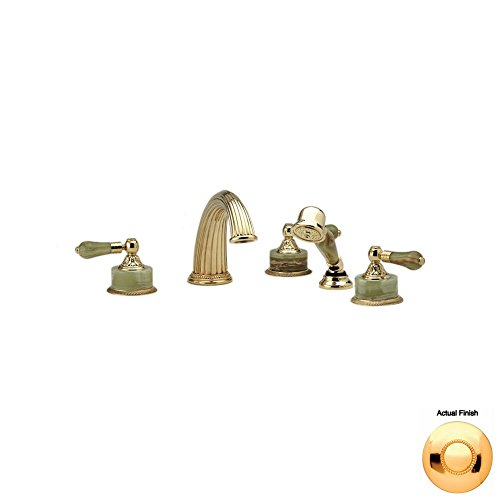 Check Out This Phylrich K2240P1_025 - Versailles Deck Mounted Tub Set W/Hand Shower, Green Onyx Hand...