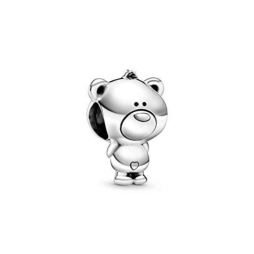 Teddy bear sterling silver charm