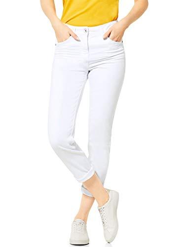 Cecil Damen 373130 Toronto Jeans, White Denim, W36/L28