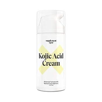 Supplement Spot Kojic Acid Face Cream for Dark Spots Retinol A & Vitamin E Dark Spot Treatment for Women - Anti-Aging & Even Skin Tone – Natural Kojic Acid Cream for Women 3.4 Oz
