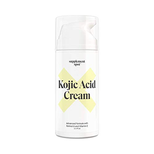 Supplement Spot Kojic Acid Face Cream for Dark Spots, Retinol A & Vitamin E Dark Spot Treatment for Women - Anti-Aging & Even Skin Tone – Natural Kojic Acid Cream for Women, 3.4 Oz